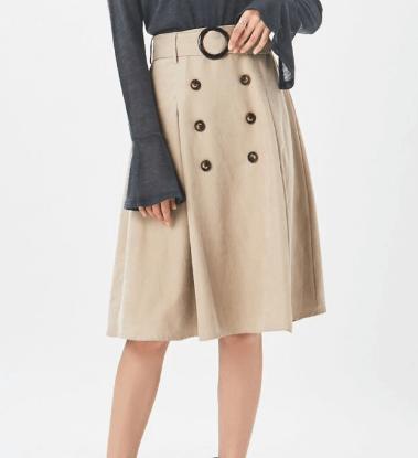通勤トレンチスカート