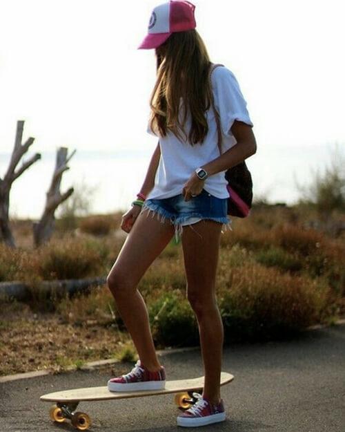 スケボー女子 ファッション