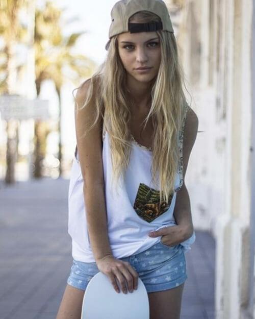 スケーター ファッション 女子